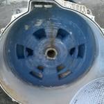 Lo azul es resíduo de jabón líquido.