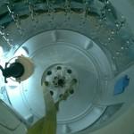 Parte del tambor de lavado que está a la vista.