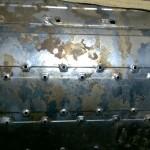 Cara opuesta del tambor de lavado, lo marrón son los restos gelatinosos del jabón líquido que se adhiere a las paredes ocultas del tambor de lavado.